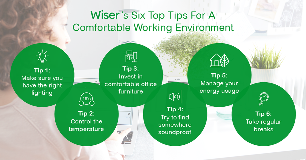 wiser working from home graphic