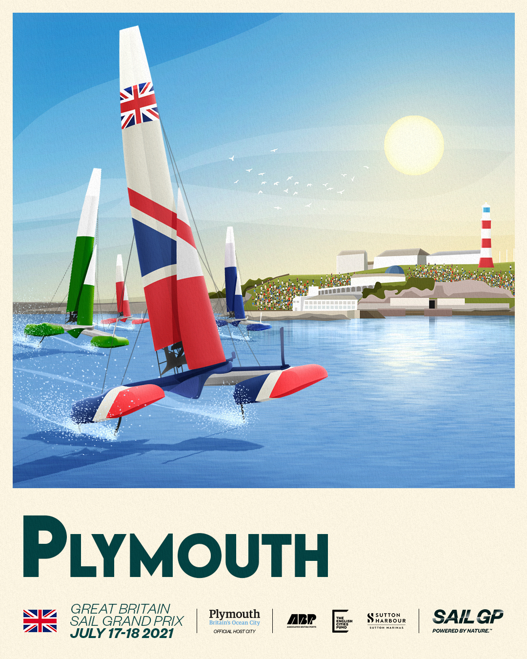 Sail GP Great Britain Sail Grand Prix Plymouth event poster