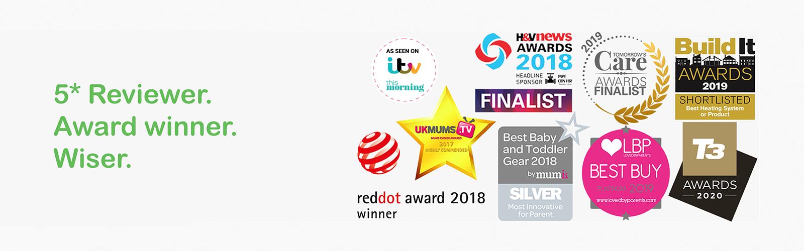 award winning 5 star review for wiser