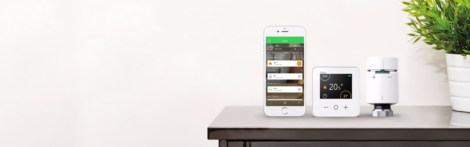 control your smart home with the wiser app