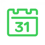 Heating schedule icon